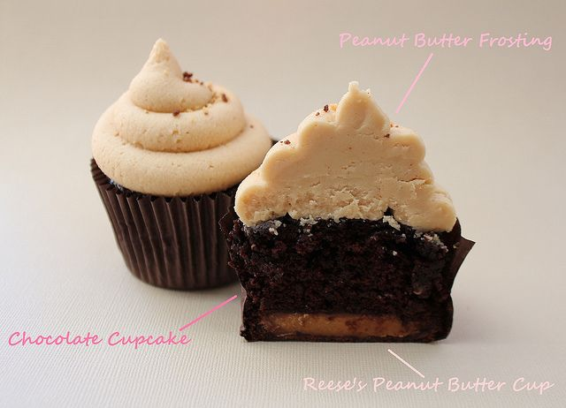 Reese's Peanut Butter Cup Cupcakes: Peanuts, Flickr, Cupcakes Muffins, Butter Cupcakes Yum, Recipes, Pink, Peanut Butter Cups