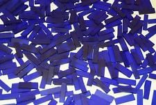 "100 1/4"" Royal Blue Tumbled Border Stained Glass Mosaic Tiles"
