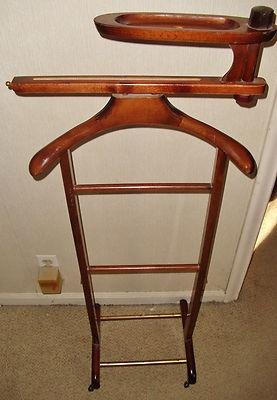 Vintage Mid Century Modern SPQR Italy Clothing Valet Butler Mahogany Wood 50s | eBay
