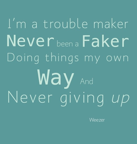 Trouble Maker by Weezer...probably my favourite Weezer song to drive to. My best friend and I go all out on this one.