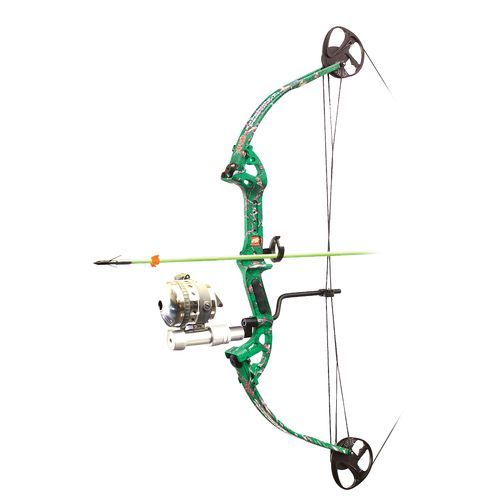 PSE Discovery Bowfishing Bow With Muzzy Reel Green Bright - Archery, Bows And Cross Bows at Academy Sports