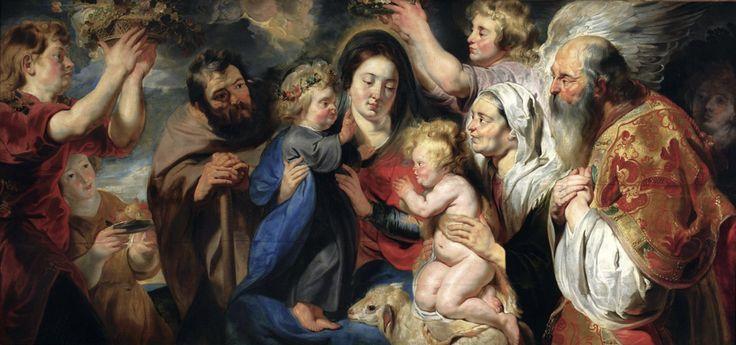 Η Αγία οικογένεια με τον Άγιο Ιωάννη και τους γονείς του και Αγγέλους (1616-17) Εθνικό Μουσείο Βαρσοβίας