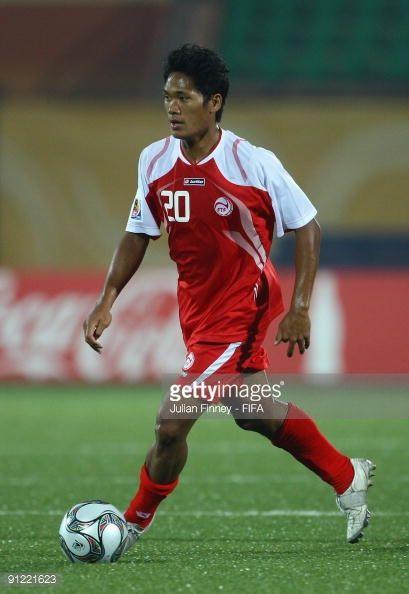 Lorenzo Tehau of Tahiti in action during the Group B FIFA U20 World Cup match between Tahiti and Venezuela at the Al Salam Stadium on September 28...