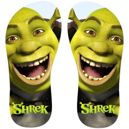 Estampa para chinelo Shrek 000937 - Customize Transfer