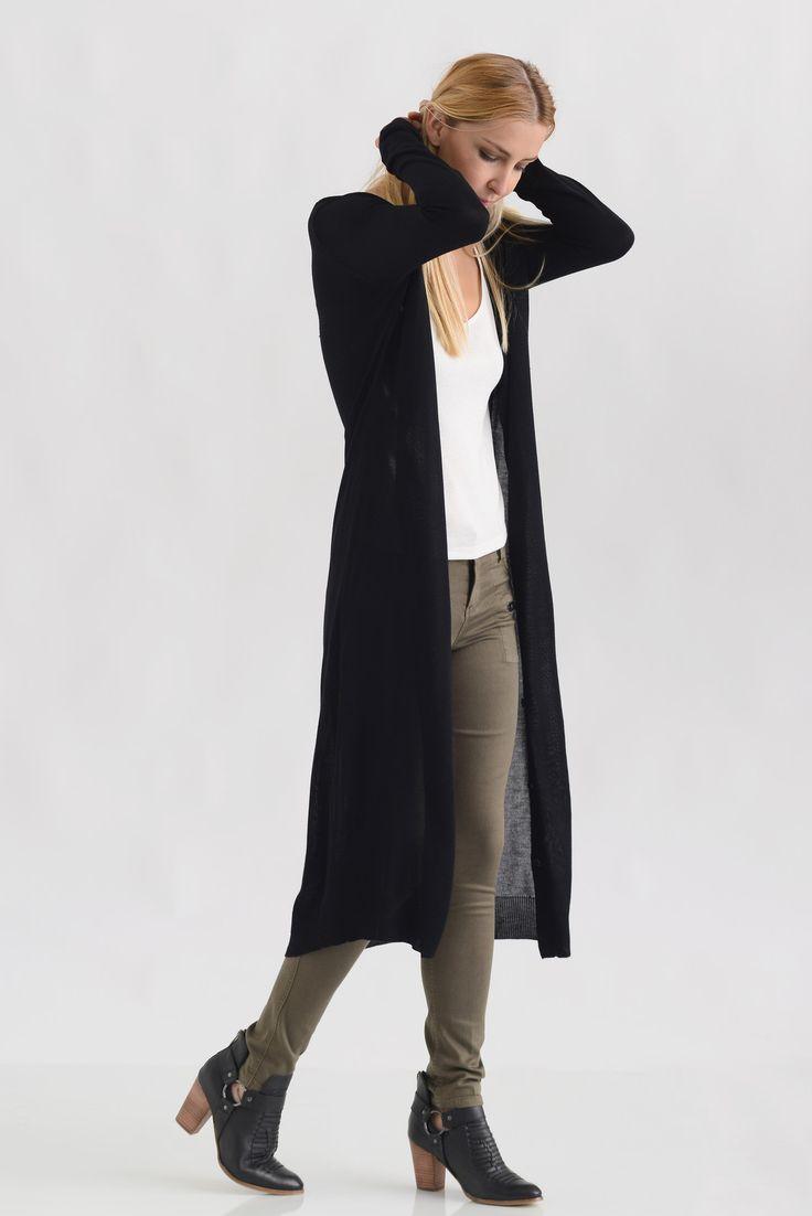 25  cute Long sweater duster ideas on Pinterest | Black floppy ...