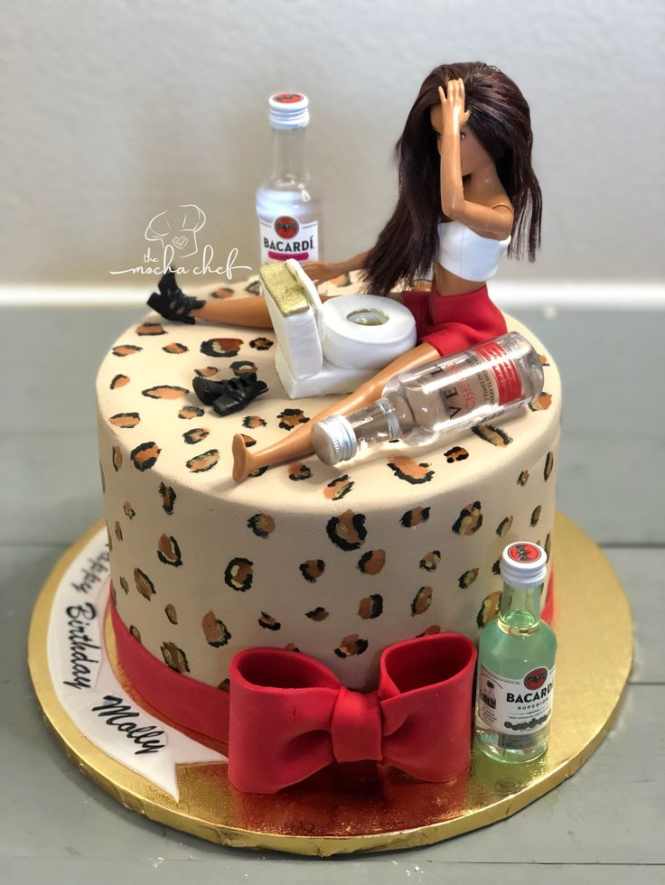 Drunk Barbie Cake Hairs In 2019 Birthday Cake 22nd