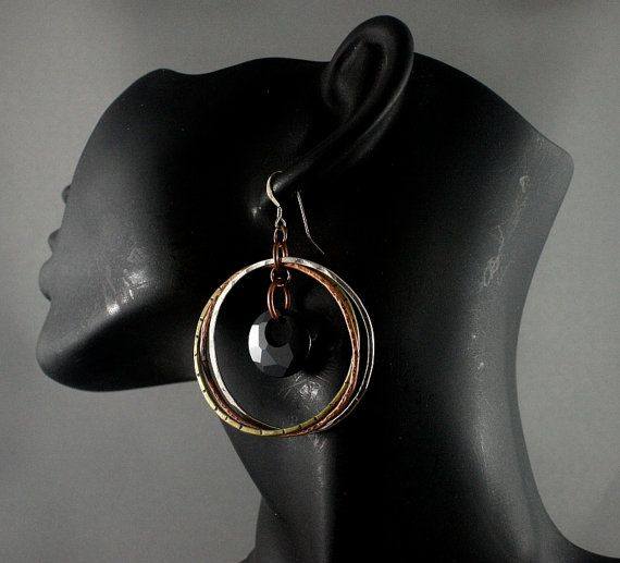 Mother of the bride earrings. Copper silver by nataliasjewellery