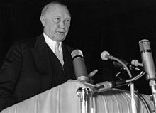 Konrad Adenauer was the first post-war Chancellor of Germany (West Germany) from 1949 to 1963