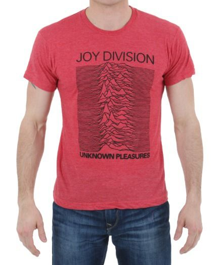 Joy Division Unknown Pleasures Heather Red T-Shirt: This Joy Division Unknown Pleasures Heather Red… #TShirts #CustomShirts #BandTees