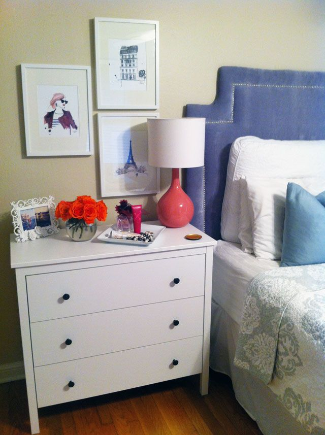 1000 images about ikea on pinterest ikea hacks 8 drawer dresser and drawers - Bedside table for small space paint ...