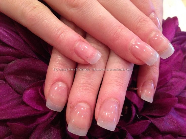 Natural acrylic nail extensions. I use to get these all the time. Love the look