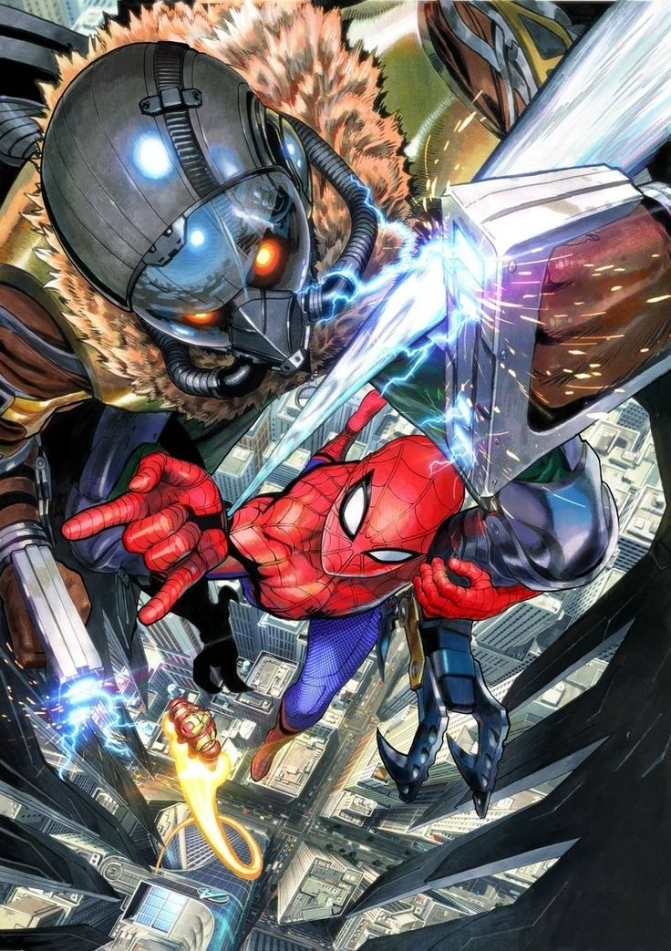 Yusuke Murata's (One-Punch Man) spectacular Spider-Man: Homecoming poster for the film's Japan premiere.