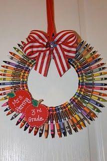 crayon wreath - tutorial
