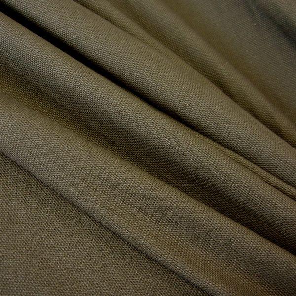 Baumwolle rein - Stoff Baumwolle Meterware Panama Canvas oliv grün - ein Designerstück von werthers-stoffe bei DaWanda