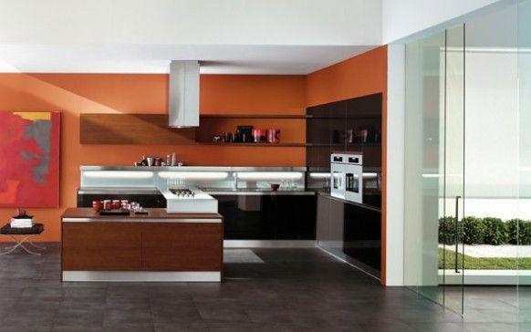 copat orange kitchen