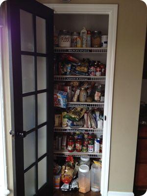 Thrifty Decor Chick: No more wire shelves!! (A pantry redo)