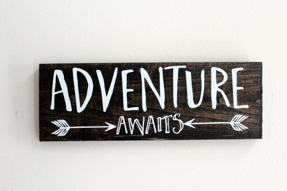 Multiple Sizes l Adventure Awaits Arrow Rustic Wall Sign l Follow Your Arrow l Wall Decor l Boho Chic Decor l Gifts Under 25