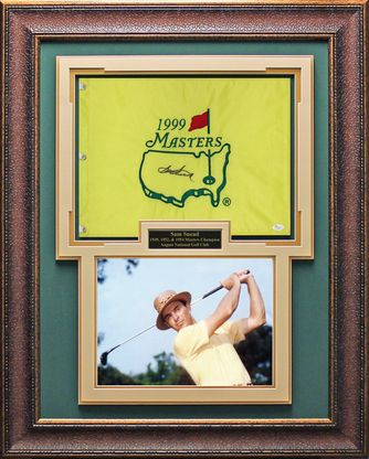 Sam Snead Signed Masters Flag Framed