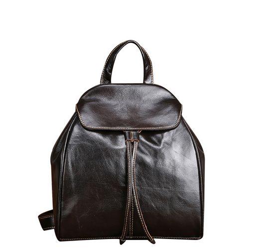 Fashion Vintage Women Backpack Daily School Bag Shoulder Travel Bag Genuine Leather