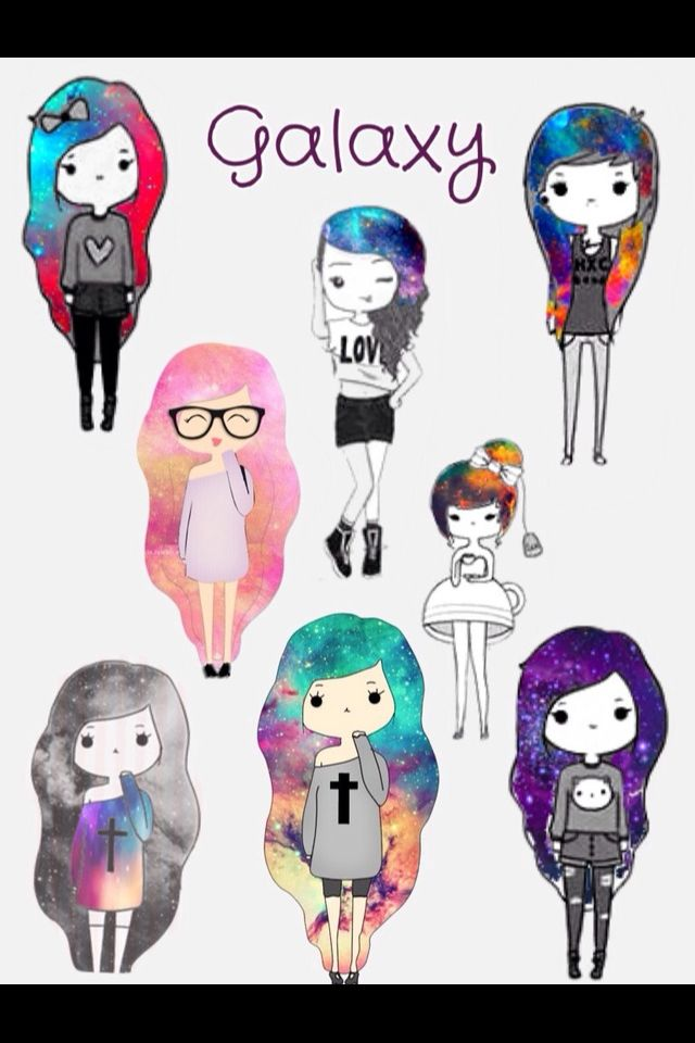 Im The Bow Girl With Heart Shirt Nerd Glasses Gal And Cross Green Galaxy Hair