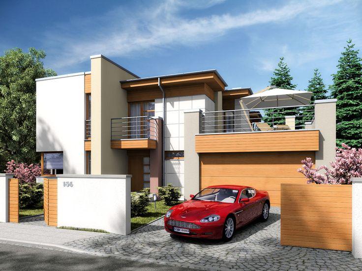 Komfortowy dom jednorodzinny, niepodpiwniczony, przeznaczony dla 4-7 osobowej rodziny z garażem dwumiejscowym.