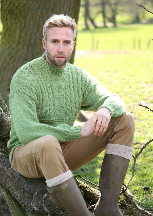 Guernsey Style Sweater in Wendy Ramsdale DK (5787) - Digital Version   Mens Knitting Patterns   Knitting Patterns   Deramores