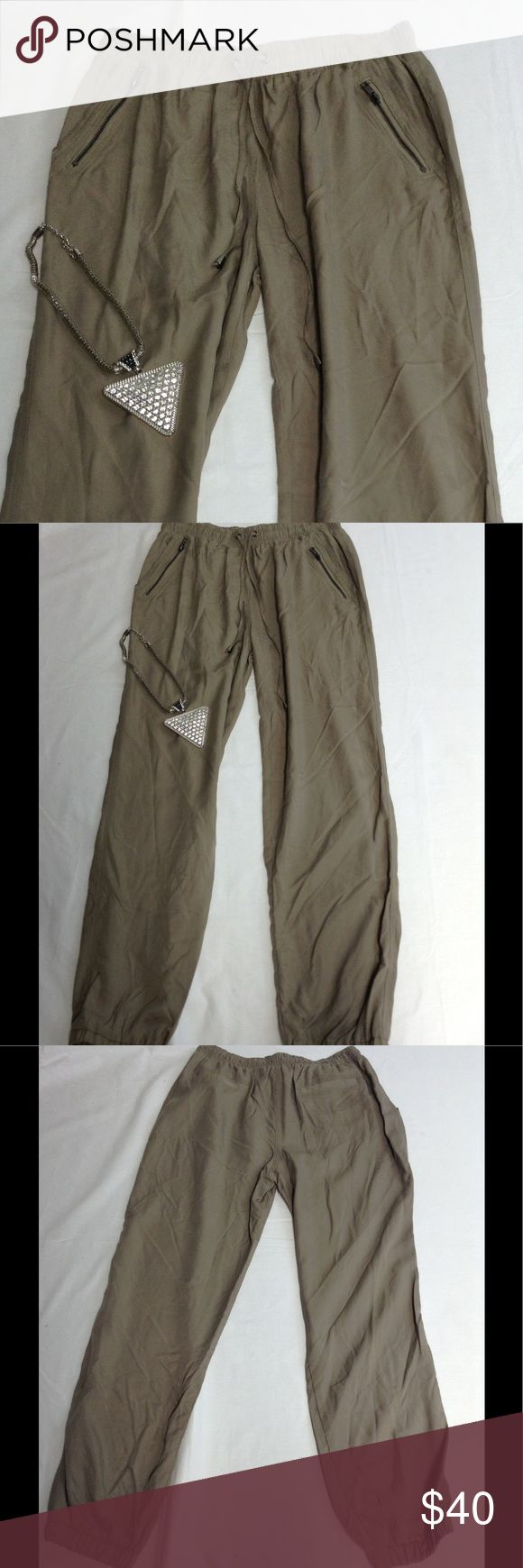 "Wilde heart tan brown jogger pants size L WAIST 15"" STRETCHES TO 18"" - INSEAM 29"" - RISE 11"" - OUTSEAM 40"" MEASUREMENTS ARE TAKEN LAYING FLAT. ACCESSORIES NOT INCLUDED. THANK YOU FOR VISITING OUR CLOSET, COME BACK SOON! Pants Track Pants & Joggers"