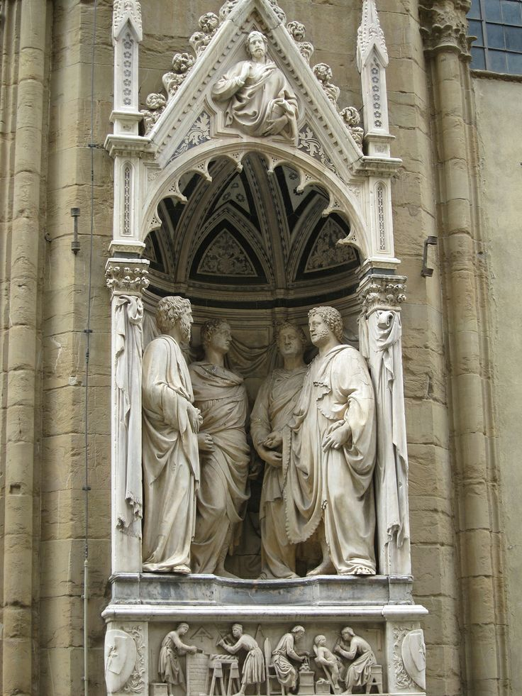 nanni di banco les quatre saints couronn s statues des saints patrons de la corporation des. Black Bedroom Furniture Sets. Home Design Ideas
