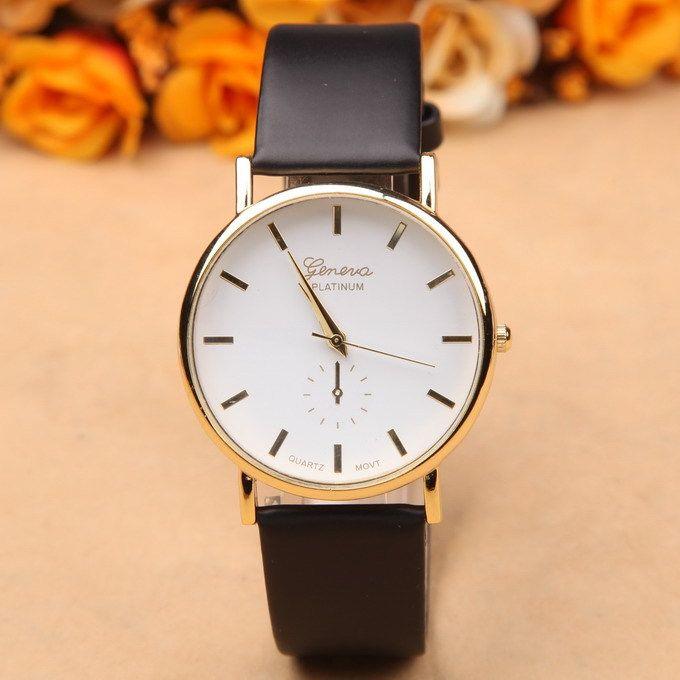 New arrival quartz watch women geneva fashion leather watch dress luxury ladies wristwatches female clocks and watches