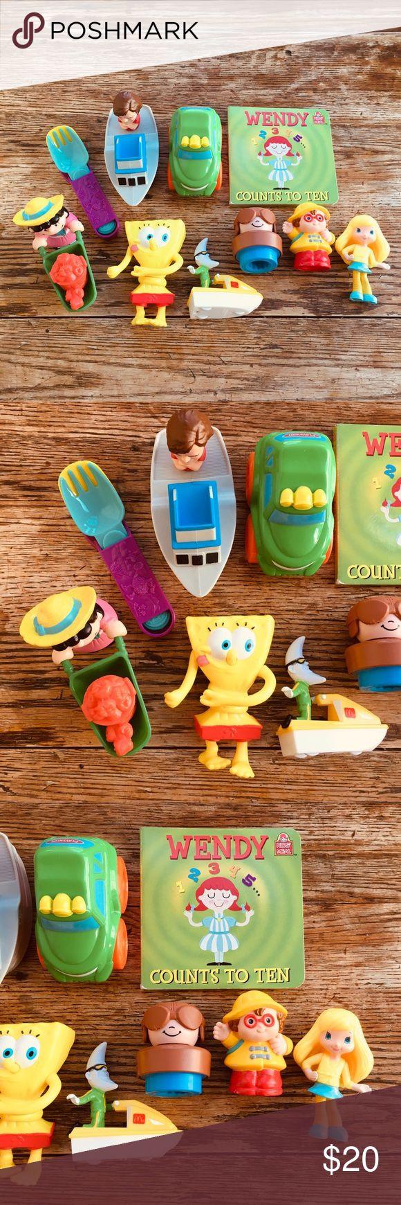 Vintage—McDonald's Wendy's Burger King Toys Lot Vintage