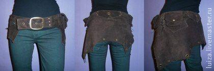 Пояс из замши с карманами - коричневый,пояс из замши,этнический,бохо,непальская этника