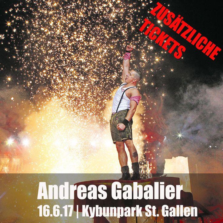 Zusätzliche Tickets für Andreas Gabalier am 16.6.17 im Kybunpark in St. Gallen. Jetzt zugreiffen: www.ticketcorner.ch/andreas-gabalier