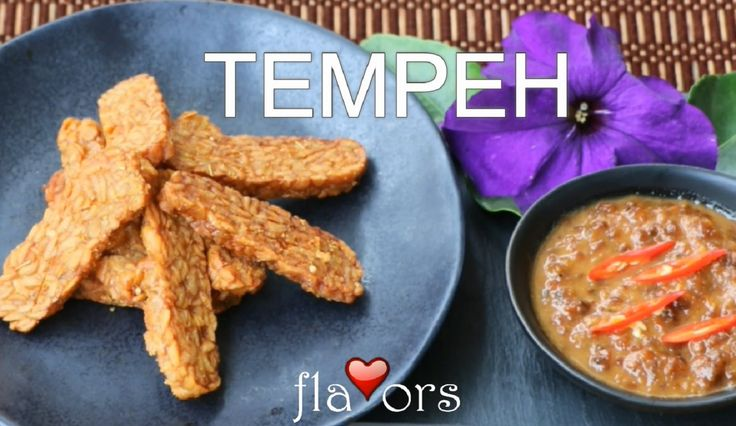 FRIED TEMPEH (TEMPEH GORENG) FERMENTED SOY BEAN CAKE Tempeh is a fantastic source of plant based protein with a unique nutty flavor. It has a higher content of protein, dietary fibre, and vitamins than tofu as it is less processed.   Tempeh originated from Indonesia over 200 years ago. Whole soybeans are fermented into a cake form.  The tempeh is usually marinaded in spices and shallow fried. Alternatively it can be used in stir-fry dishes or for vegetarian hamburgers.