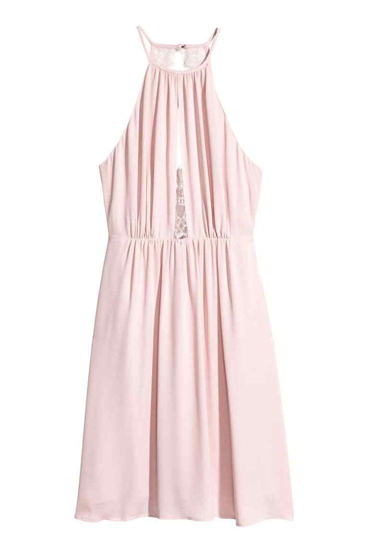 Vestido com detalhes em renda - Rosa claro - SENHORA | H&M PT