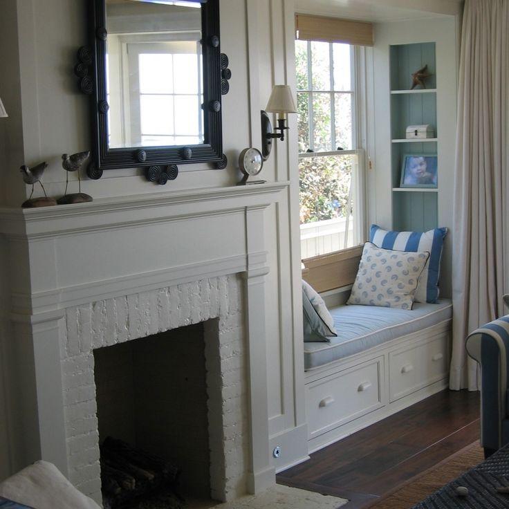 Fireplace Design fireplace seat cushion : 25+ best Window seats with storage ideas on Pinterest | Window ...