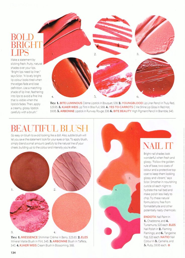 #Miessence Shimmer Creme Berry was featured in Good Health Magazine
