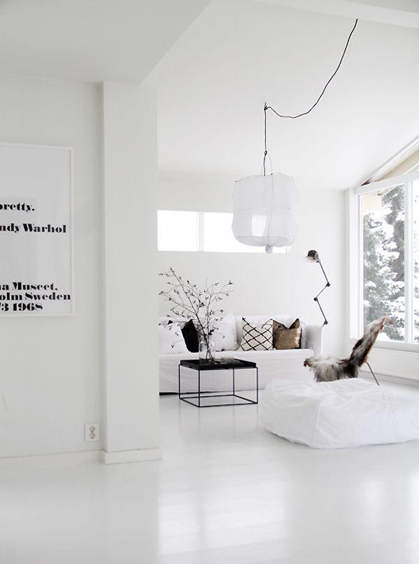 white and serene