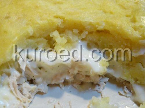 Пастуший пирог с курицей и кремовой начинкой