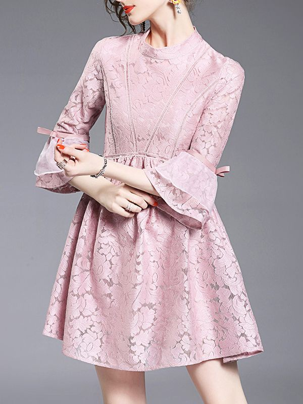 Shop Pink Contrast Organza Lace Dress online. SheIn offers Pink Contrast Organza Lace Dress & more to fit your fashionable needs.