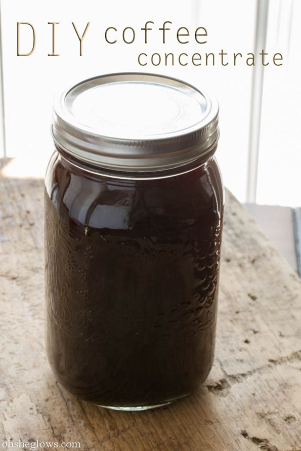 DIY Cold Brew Coffee Concentrate - no more fussing with clean up every morning! Perfect for Iced Coffee this summer.