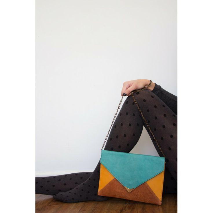 tricolor envelope bag
