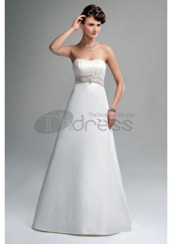 Abiti da Sposa Semplici-Raso senza spalline gonna abiti da sposa semplici