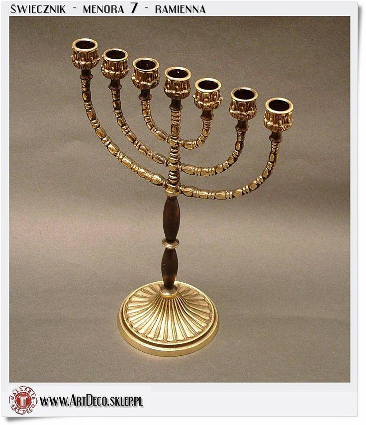 Świecznik żydowski - hebrajski Menora 7 ramienna