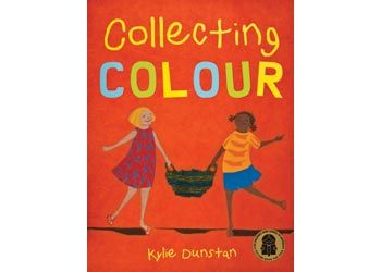 "Collecting Colour Book: ""Rose and Olive spend a day out bush helping to gather the pandanus leaves for making bags and baskets…They collect the colour that the bags will be, from special plants and berries. It is a hard day's work but worth it!"""