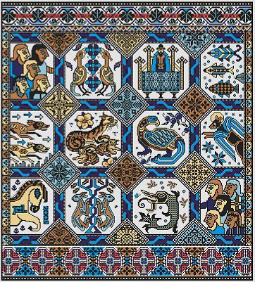 Opus Magnusson - Cross Stitch Pattern - Long Dog Samplers - This is going to the top of my wishlist to purchase to stitch one day.  Maybe next year...
