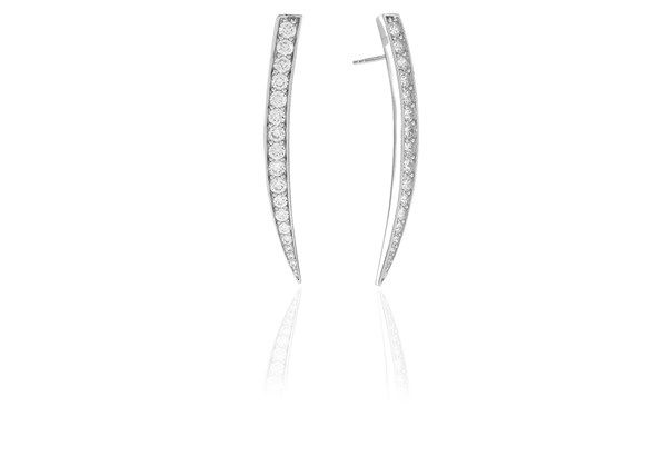 Earrings Pila Grande with white zirconia!