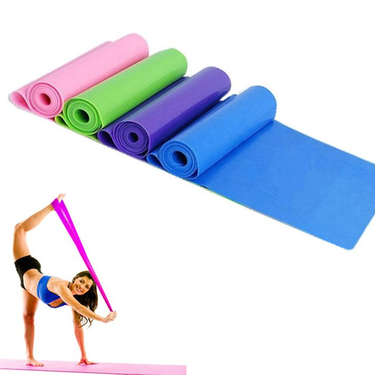 1.5m Yoga Pilates Stretch Resistance Band Exercise Fitness Band Training Elastic Exercise Fitness Rubber 150cm High Quality