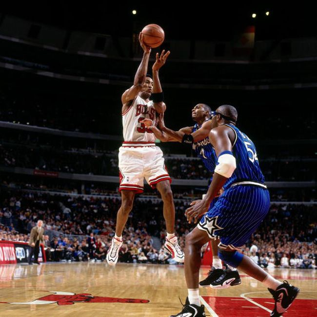 Scottie Pippen In The Nike Air Way Up