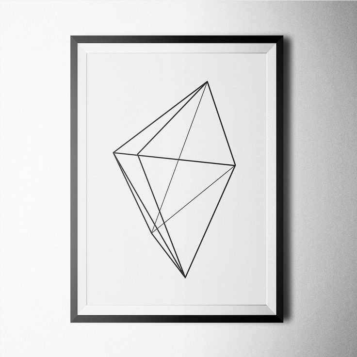 Black and white geometric poster design for home or office decoration.