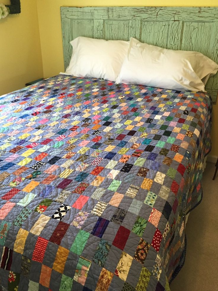 Katy: This is a big finish today! I wouldn't have gotten it done except that hubby is out of town on business. My house is a mess, but my quilt is done! The first two pics show the quilting before …